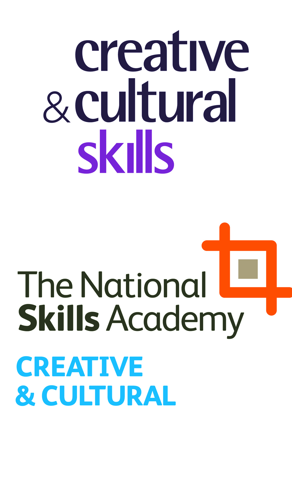 Creative and Cultural Skills and the National Skills Academy logos