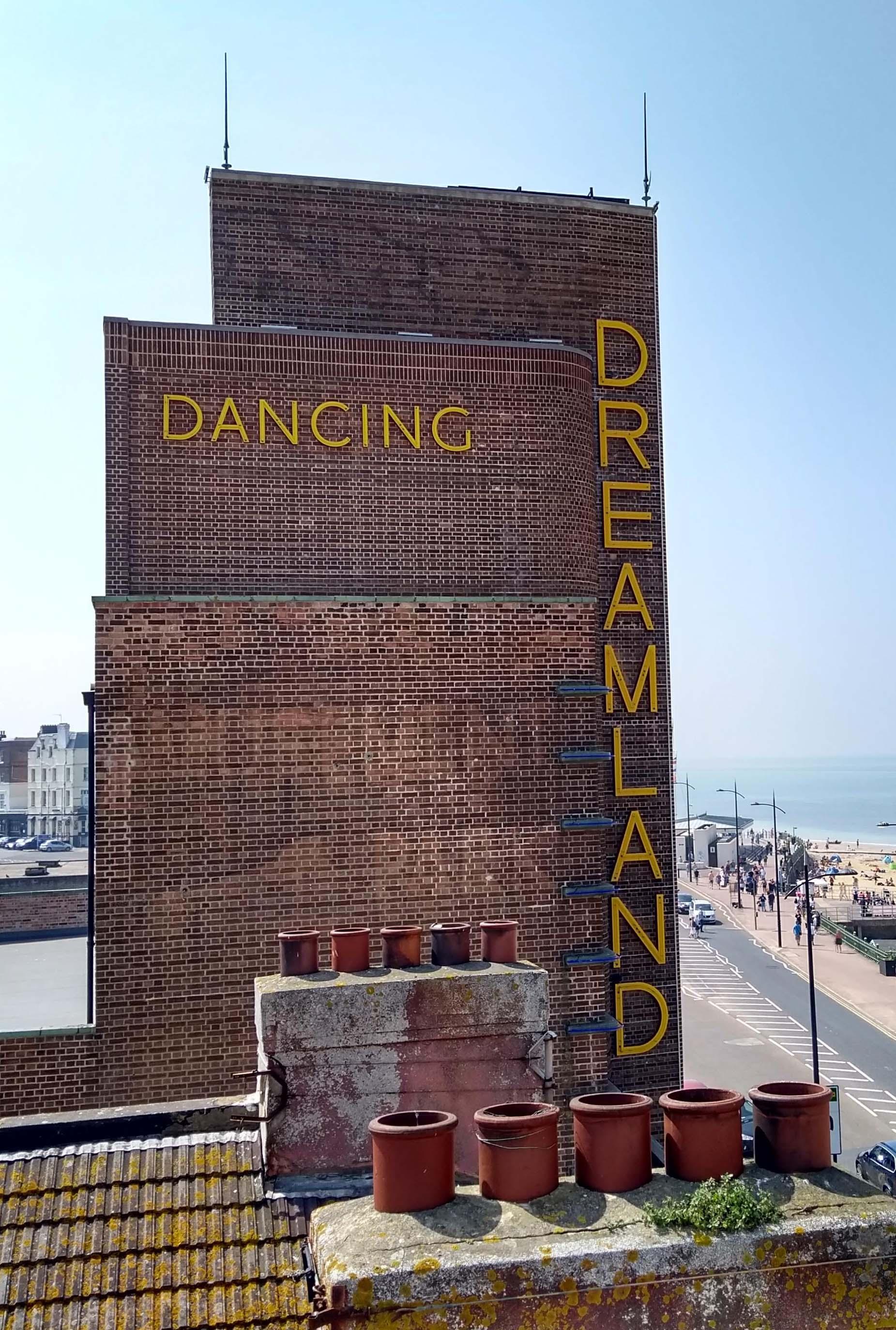 Dancing Dreamland sign