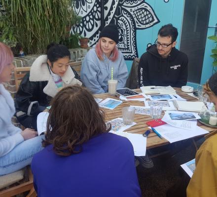 Poets taking part in a workshop