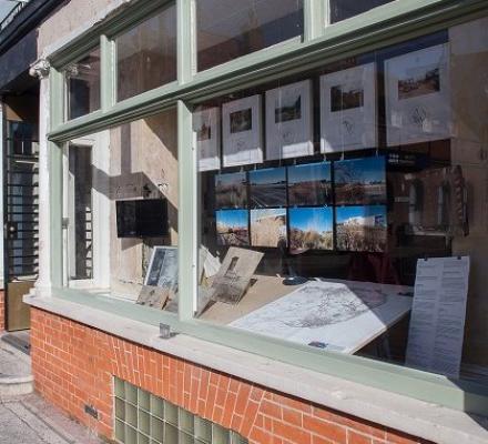 Exhibition in gallery window