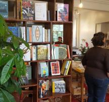 Bookshelves in The Margate Bookshop